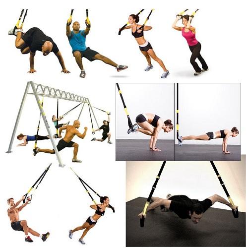 Упражнения на подвесных тренировочных петлях